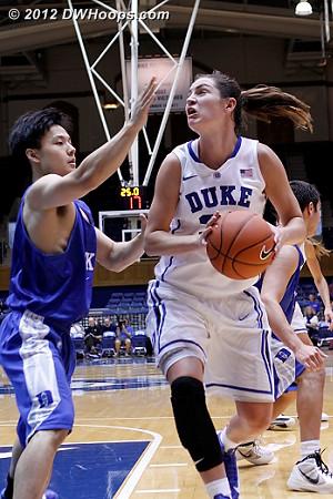 Haley Peters attacks the basket  - Duke Tags: #33 Haley Peters