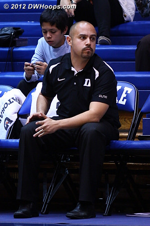 Hernando Planells helped coach the scout team  - Duke Tags: Hernando Planells