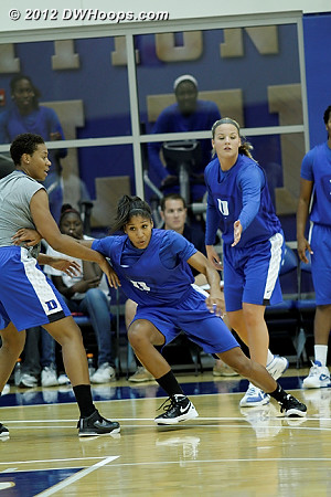 DWHoops Photo  - Duke Tags: #5 Sierra Moore, #32 Tricia Liston, Joy Cheek