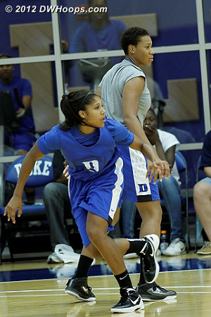 DWHoops Photo  - Duke Tags: #5 Sierra Moore, Joy Cheek