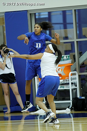 DWHoops Photo  - Duke Tags: Candace Jackson , Joy Cheek