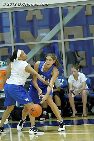 DWHoops Photo  - Duke Tags: #43 Allison Vernerey, Candace Jackson