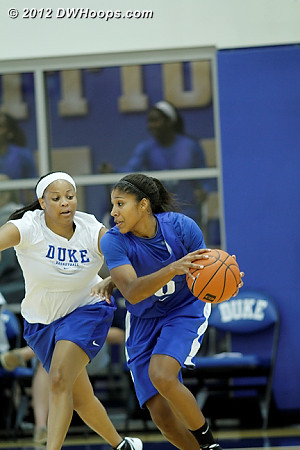 DWHoops Photo  - Duke Tags: Candace Jackson , #5 Sierra Moore