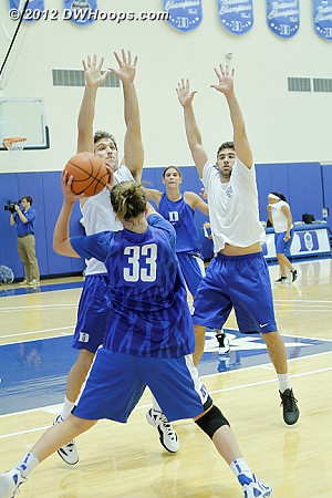 The male practice players worked hard, too  - Duke Tags: #33 Haley Peters