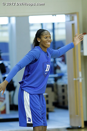 Amber Henson (knee) was also on the second court  - Duke Tags: #30 Amber Henson