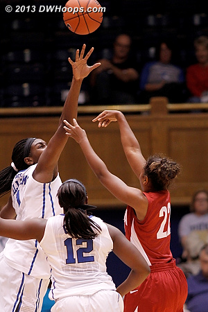 Rejection by Williams, one of five  - Duke Tags: #1 Elizabeth Williams  - ALA Players: #22 Karyla Middlebrook