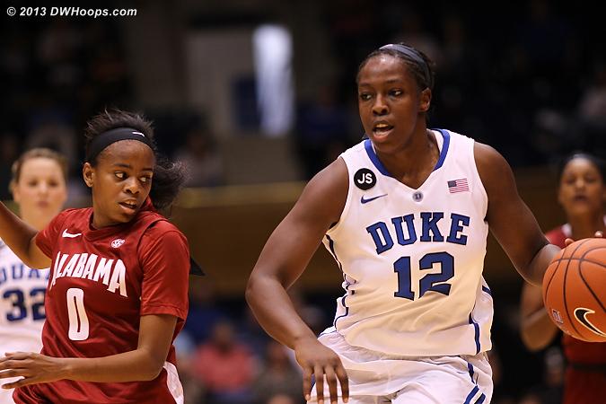 DWHoops Photo  - Duke Tags: #12 Chelsea Gray - ALA Players: #00 Daisha Simmons