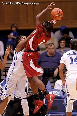 Foul on Henson  - ALA Players: #3 Khadijah Carter