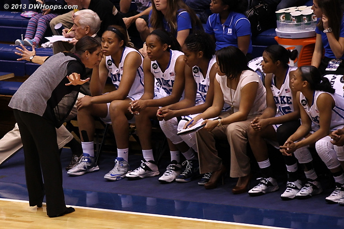 Coach P makes a point to the Blue Devil bench