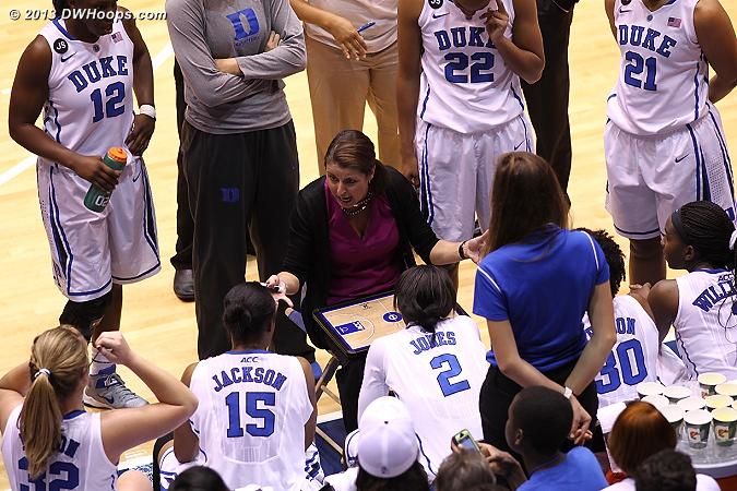 A look inside the Duke huddle  - Duke Tags: Joanne P. McCallie
