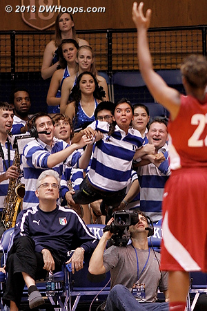 A great free throw distraction by the Duke band