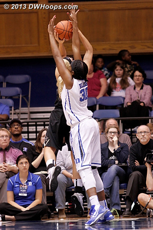 Rejection by Henson - with her forearm!