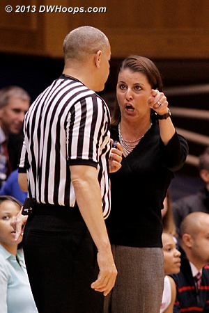 Coach P displeased with a charge call against the Blue Devils