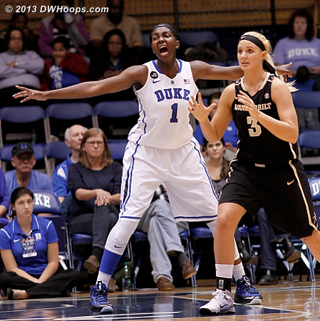 Duke is at its best when talking on defense  - Duke Tags: #1 Elizabeth Williams  - VAND Players: #3 Heather Bowe
