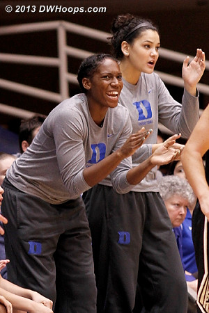 Support from the Duke bench