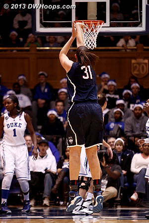 A wide open look for Dolson from three puts UConn up 25-12, on a 17-0 run.  - CONN Players: #31 Stefanie Dolson
