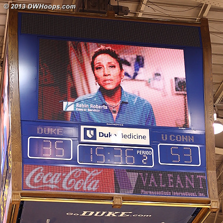 Palindrome in the opposite direction, and Robin Roberts reminding us about the V Foundation