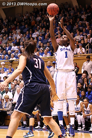 Williams was reduced to jump shots in the second half  - Duke Tags: #1 Elizabeth Williams