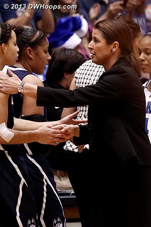 Postgame handshakes  - Duke Tags: Joanne P. McCallie