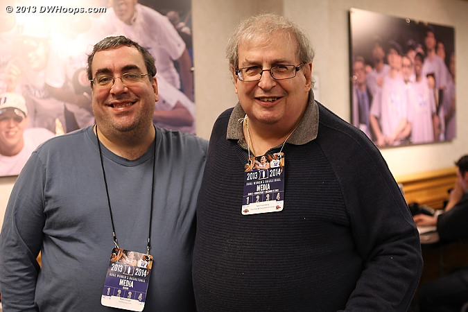 DWHoops' Rob Clough with The Guru himself, Mel Greenberg!