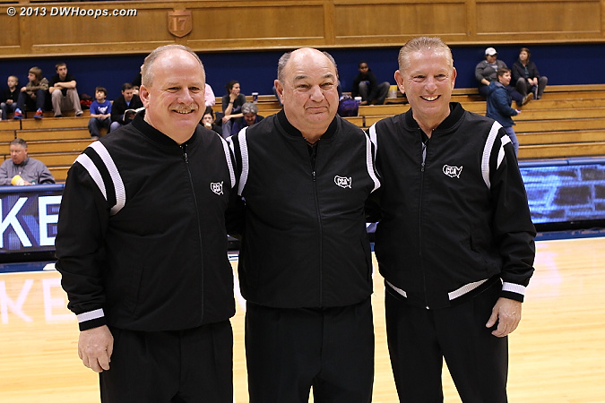 Our veteran officiating crew, Lawson Newton, Tommy Salerno, and Joe Cunningham.  Proud to say I shook hands with all of them after taking this photo.