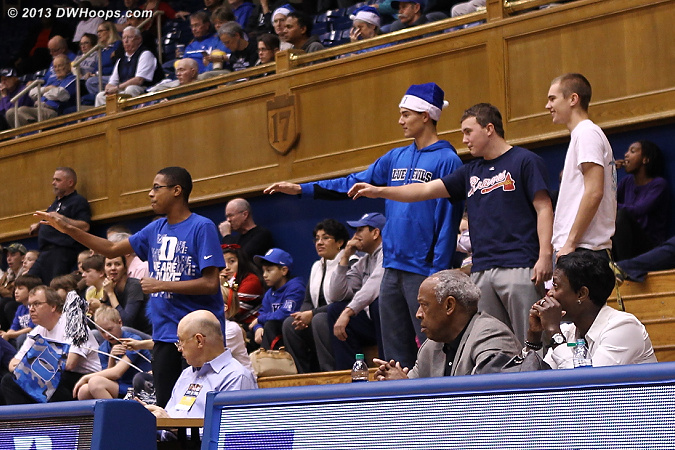 These four fans made the ruckus of 40, but it was still a stark contrast to the UConn packed house