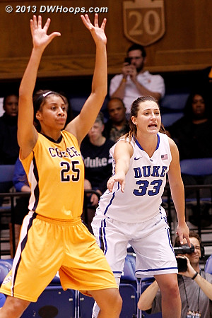 Duke did a great job talking on defense, which among other things led to the Devils giving up fewer offensive rebounds  - Duke Tags: #33 Haley Peters