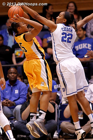 This was called a foul  - Duke Tags: #22 Oderah Chidom