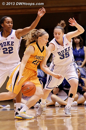 Chidom and Frush guard Hailey Yohn, Jenna's former teammate at Durham Northern High  - Duke Tags: #35 Jenna Frush, #22 Oderah Chidom
