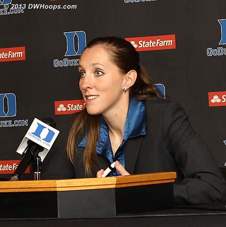 Coker head coach Jenny Finora in the post game press conference: