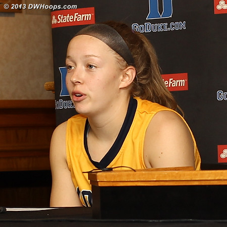 Coker guard Hailey Yohn on knowing some of the Duke players: