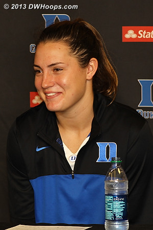 Coach P said Haley was smart, early candidate for understatement of the year.  - Duke Tags: #33 Haley Peters