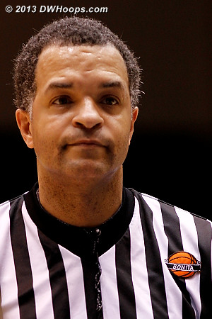 Referee Kevin Sparrock wore the commemorative patch in memory of Bonita Spence