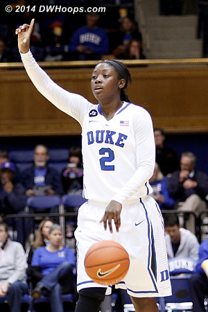 With Chelsea Gray in early foul trouble, Alexis Jones ran the offense for a while  - Duke Tags: #2 Alexis Jones