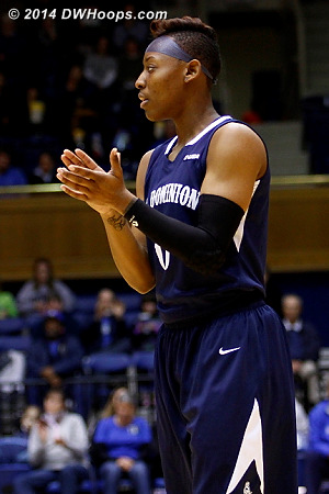 ODU's Stephanie Gardner had an interesting hairstyle