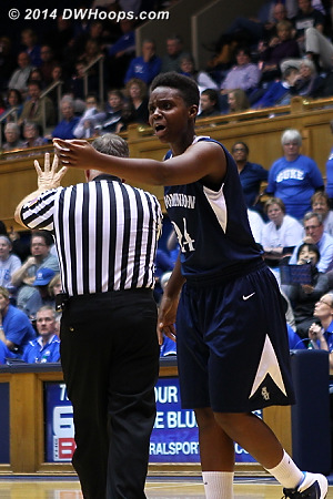 Laquanda Younger protests a call