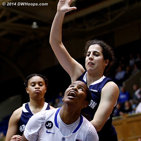 Johnson ready to score, but Brandao has other plans  - Duke Tags: #14 Ka'lia Johnson