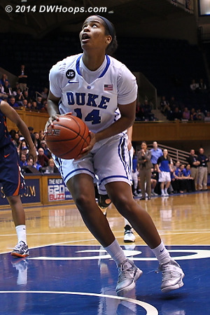 With Chelsea Gray gone and Richa Jackson in the starting lineup, Ka'lia Johnson is now first off the bench, still playing hard  - Duke Tags: #14 Ka'lia Johnson