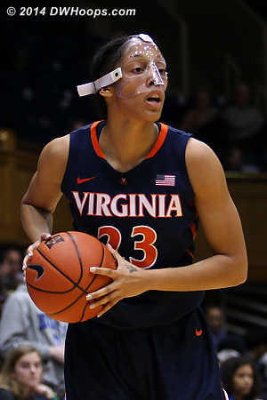 ACCWBBDigest Photo  - UVA Players: #23 Ataira Franklin