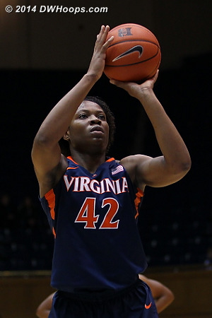 ACCWBBDigest Photo  - UVA Players: #42 Sarah Imovbioh