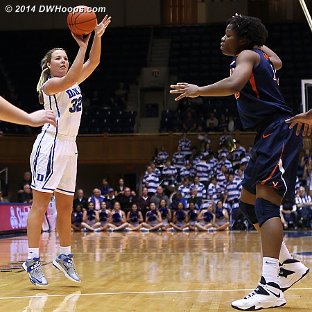 A terrible defensive lapse for Virginia as Imovbioh backed off of Liston, leaving her a wide open look in one of her favorite spots.  - Duke Tags: #32 Tricia Liston - UVA Players: #42 Sarah Imovbioh