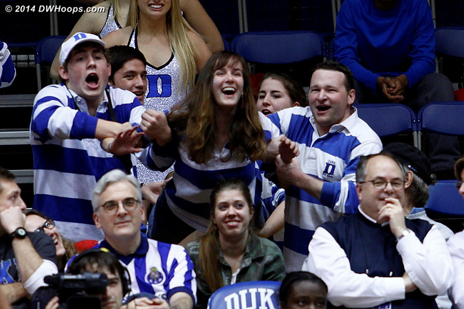 Free throw fun from the Duke Pep Band