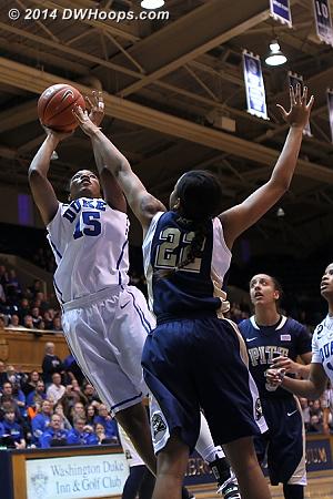 Richa puts back her own miss, 32-14 Duke, timeout Pitt