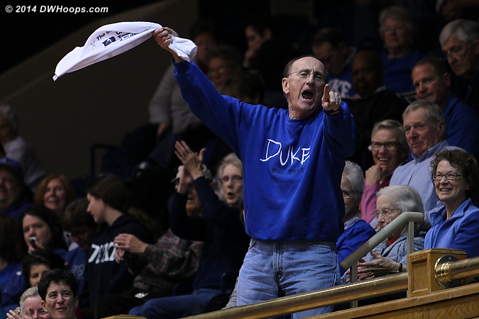 Crazy Towel Guy Herb Neubauer continues to be a fixture at Duke sporting events.
