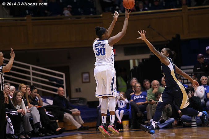 Another trey for Henson and it's 97-60 Duke