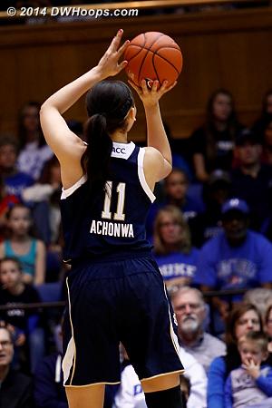 Achonwa shows off her range  - ND Players: #11 Natalie Achonwa