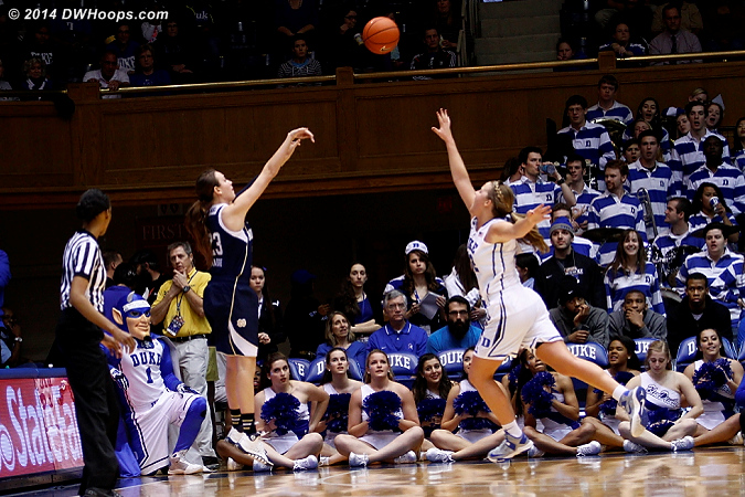 Mabrey hits the open corner three giving the Irish a double-digit lead for good  - ND Players: #23 Michela Mabrey