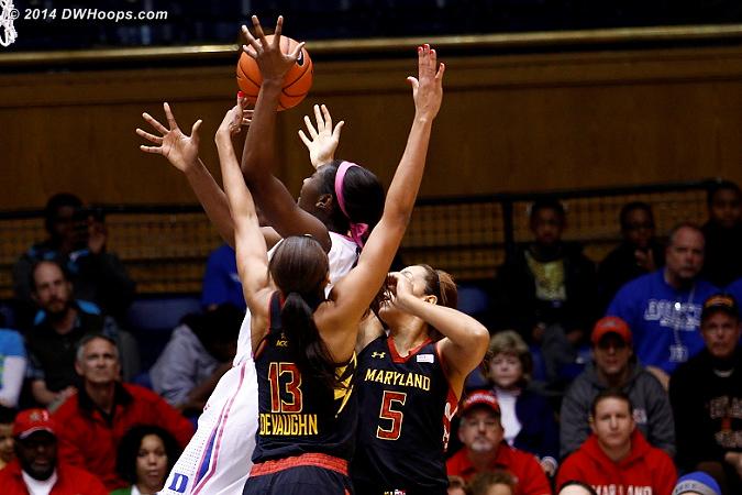 Williams draws a crowd  - Duke Tags: #1 Elizabeth Williams  - MD Players: #5 Malina Howard, #13 Alicia DeVaughn