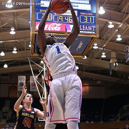 Offensive rebound  - Duke Tags: #1 Elizabeth Williams