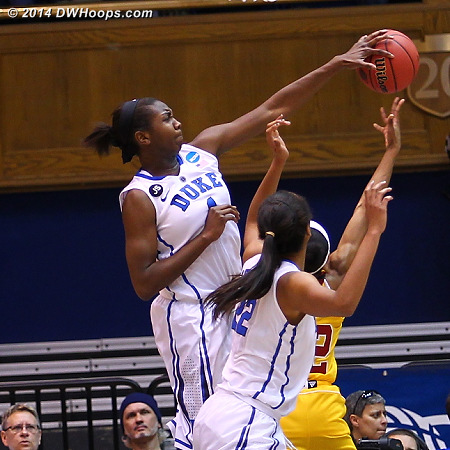 Rejection by Williams, stuffing Mcclanahan  - Duke Tags: #1 Elizabeth Williams